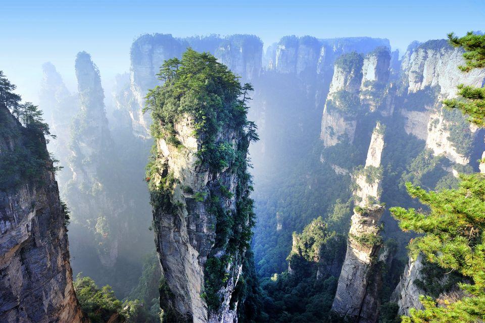 Les paysages, Zhangjiajie Parc Forestier National de Zhangjiajie Mont Tianzi Montagne Site pittoresque de Wulingyuan