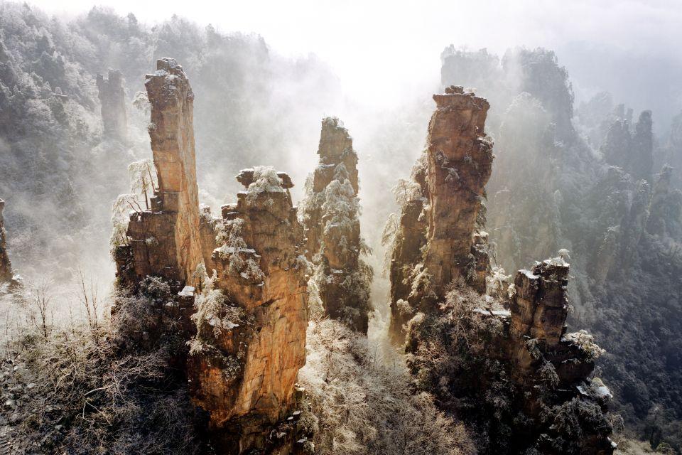 Les paysages, Rocher Chine Montagne Zhangjiajie Scène tranquille