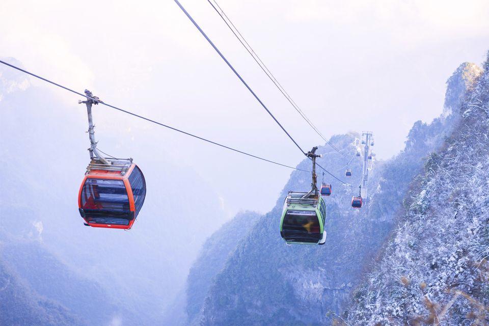 zhangjiajie national , Le parc national de Zhangjiajie, Les paysages, Les provinces de l'Est