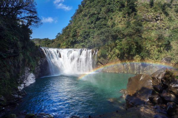 Les paysages, asie, taïwan, taiwan, shifen, chutes d'eau, cascade, rivière.