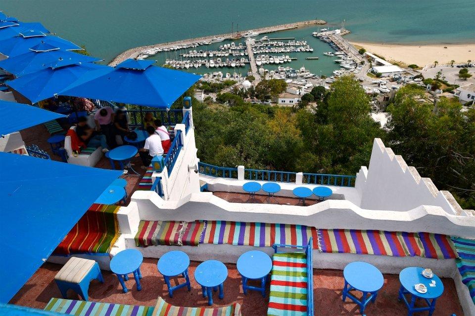 L'incontournable Café des Délices, Le village de Sidi Bou saïd, Les arts et la culture, Sidi Bou Saïd, Tunisie