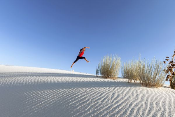 Les paysages, white sands, parc national, USA, amérique, etats-unis, états-unis, dunes, sable, nouveau-mexique, randonnée, randonneur