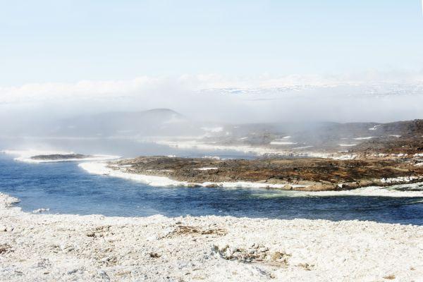 Les paysages, Nunavut, Canada, Nuage, Eau, Monolithe