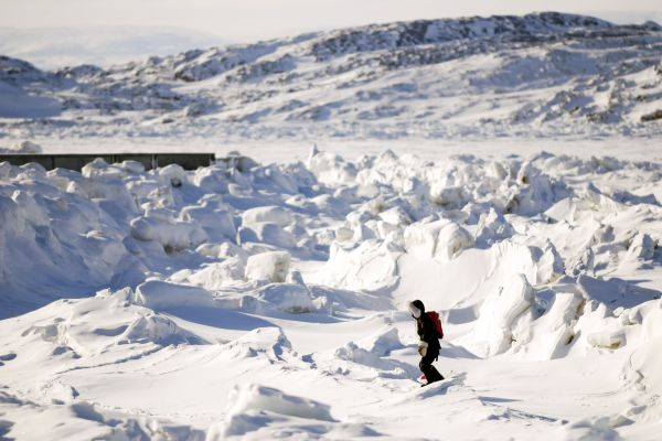 Les paysages, Ile de Baffin, Baffin, Nunavut, Canada, Amérique du Nord, Randonnée, glace, Iqaluit