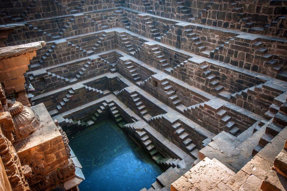 Les monuments, chand baori, Abhaneri, rajasthan, inde, puits, asie, harsat mata, temple