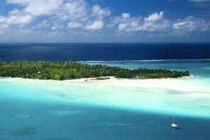 Les paysages, Océanie, Polynésie française, Tahiti, Maupiti, océan, mer, île, bateau
