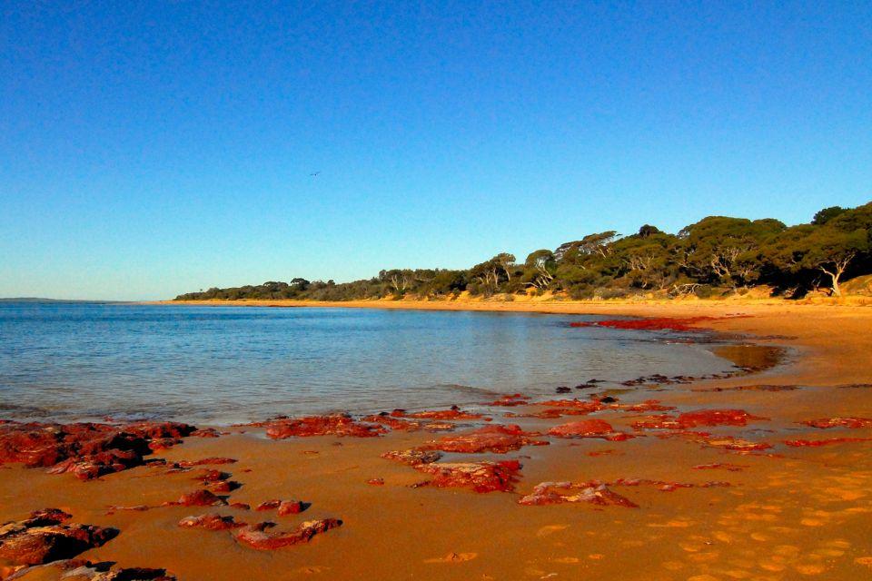 Les côtes, Australia, Beach, Blue, Coastline, Extreme Terrain, Landscape, Panoramic, Phillip Island, Red, Rock, Sand, Scenics, Sea, Sky, Victoria State, Water