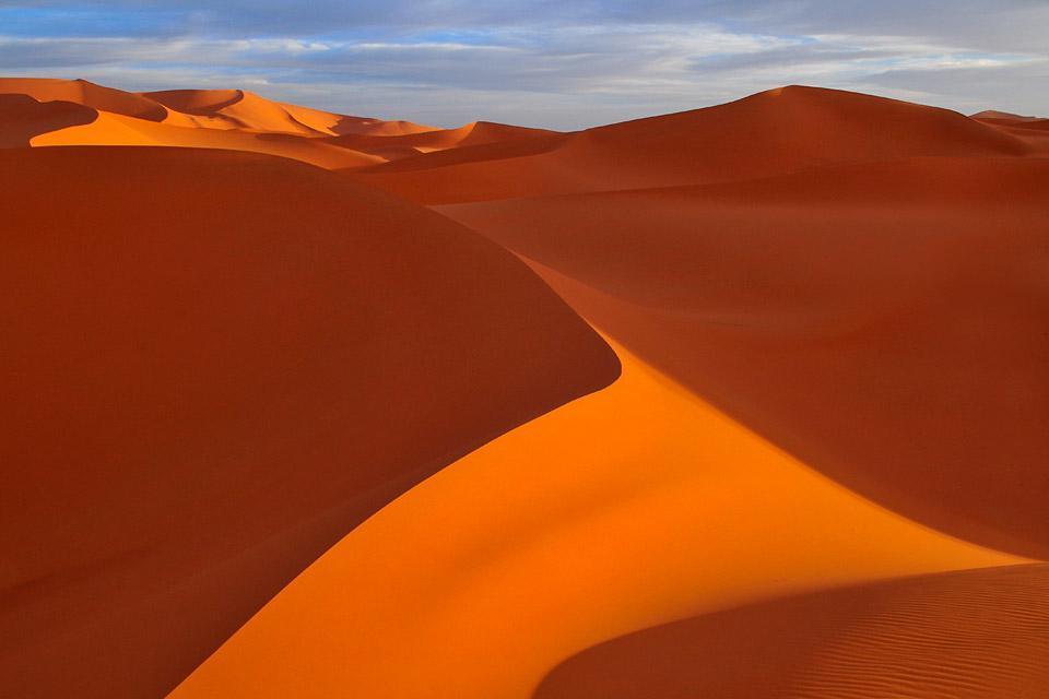 The Grand ergs , The Algerian sand dunes , Algeria