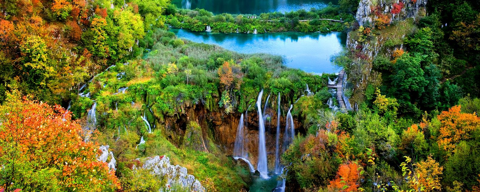 Plitvice National Park , Tourists in Plitvice National Park , Croatia