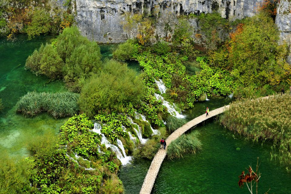 Plitvice National Park , Lake in the Plitvice National Park, Croatia , Croatia