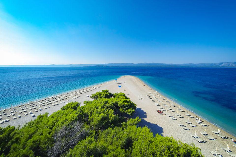 Les côtes, Zlatni Rat, île, Brac, Croatie, Europe, adriatique, plage, baignade, mer