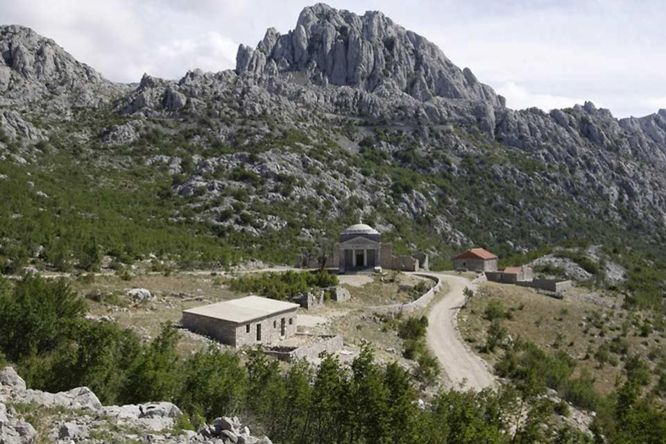 Paklenica National Park , Mountain pass and ruins, Paklenica , Croatia