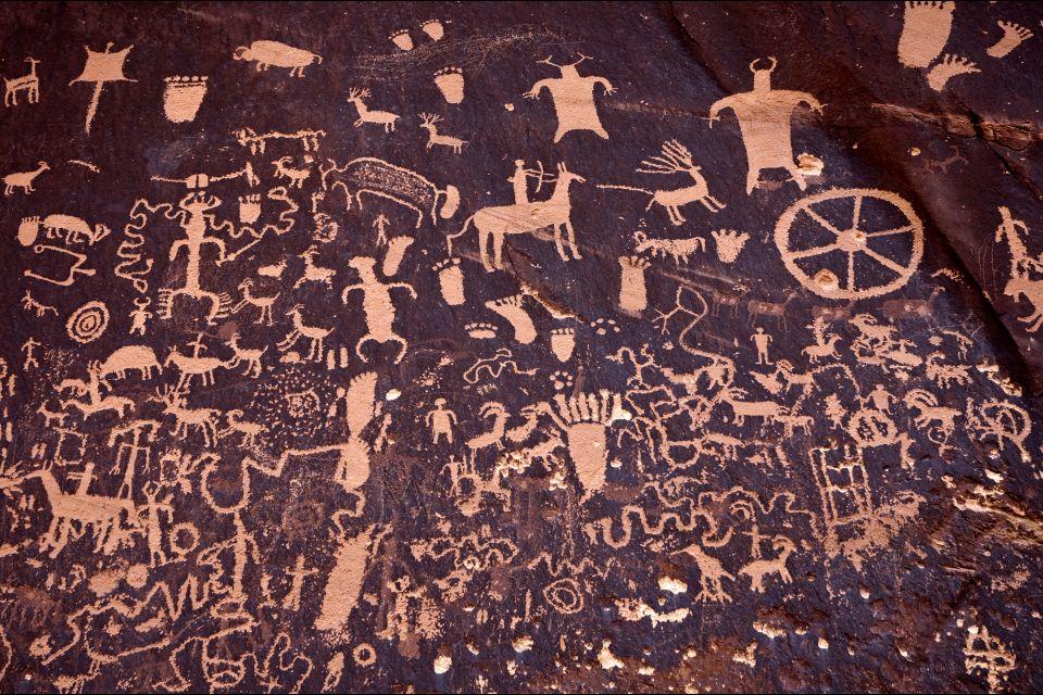 Les paysages, Canyonlands National Park, Desert, Utah, USA, Amerique, etats-Unis, parc national, gravure rupestre