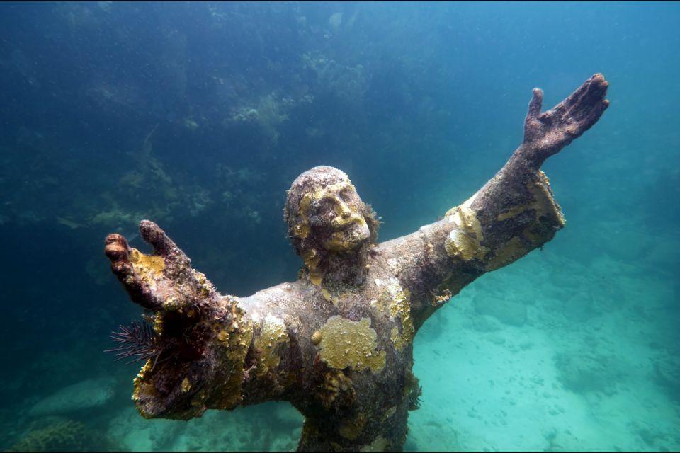 Les parcs et les réserves, floride, USA, Amérique, Etats-Unis, keys, océan, caraïbes, christ, statue.