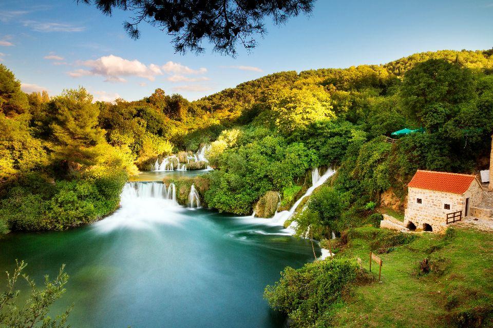 Le parc national de Krka , Chutes de Krka en Croatie , Croatie