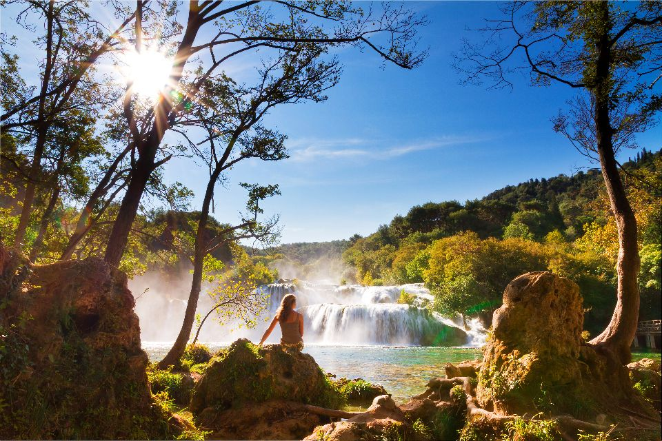Le parc national de Krka , Une autre superbe cascade de Krka , Croatie