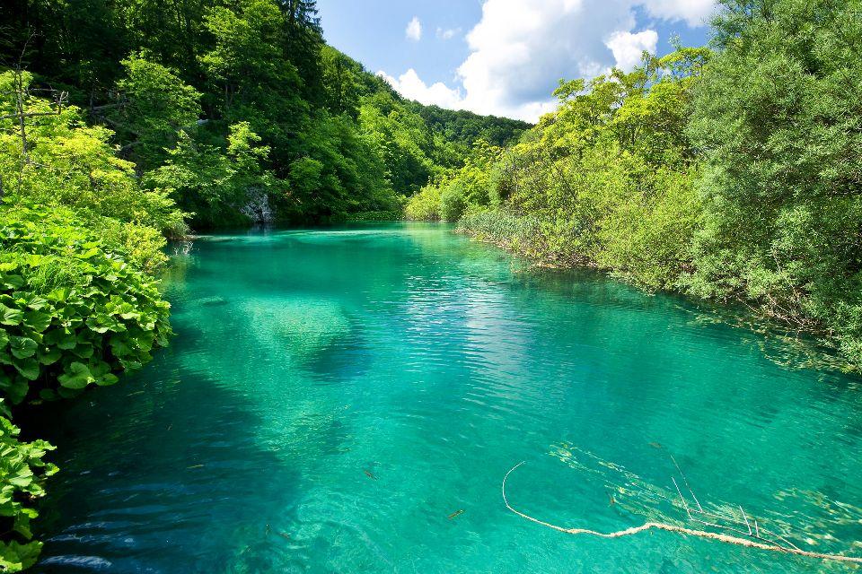 Le parc national de Krka , Les eaux calmes du parc national de Krka , Croatie