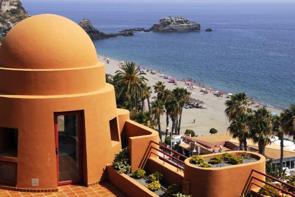 Les monuments, andalousie, espagne, almunecar, europe, plage, côte, mer, méditerranée