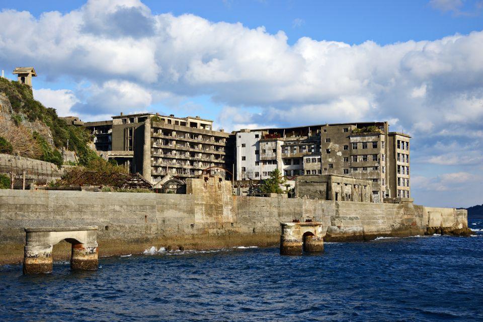 Les côtes, nagasaki, gunkan jima, gunkanjima, nagasaki, hashima, ruines, japon, asie