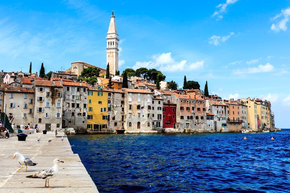 Les villes côtières , Village de la région de la Dalmatie, Croatie , Croatie