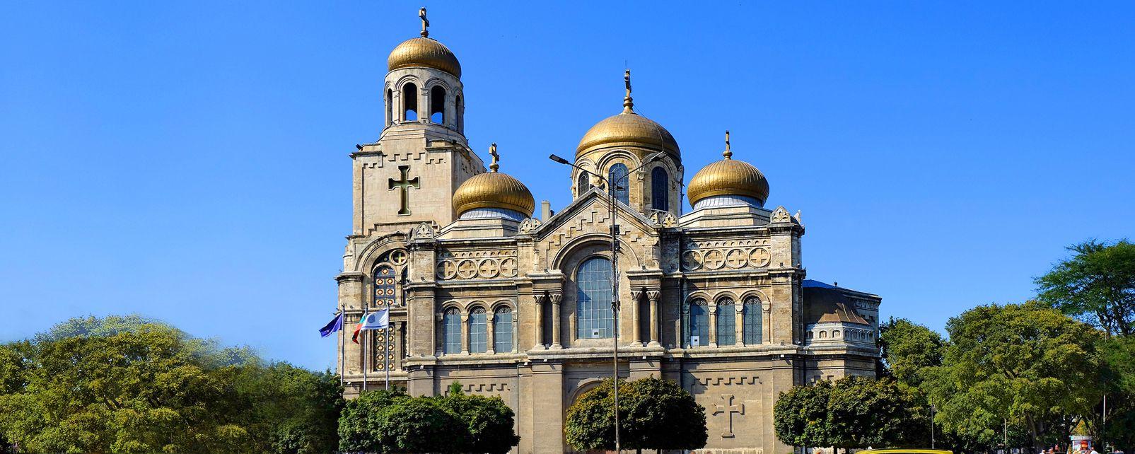 Les monuments, Cathédrale, Europe, Bulgarie, Varna, religion, christianisme, Assomption