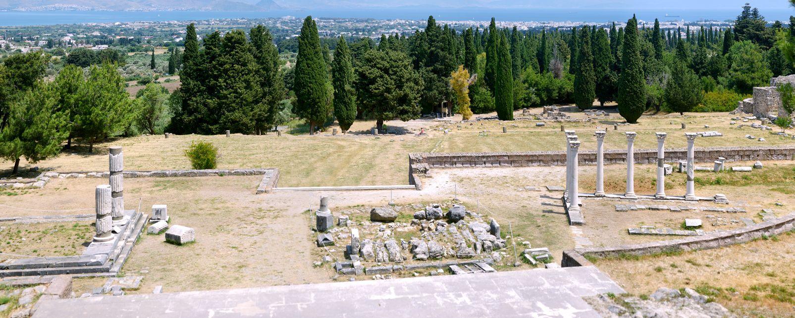 Les monuments, Kos, Grèce, ruine, archéologie, vestige, dodécanèse, europe, île, asclépiéion