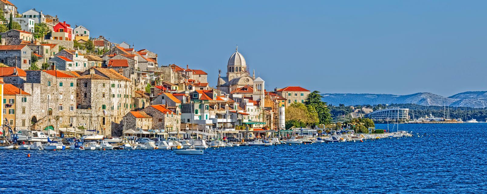 Les monuments, sibenik, dalmatie: croatie, afriatique, europe, cathédrale, église