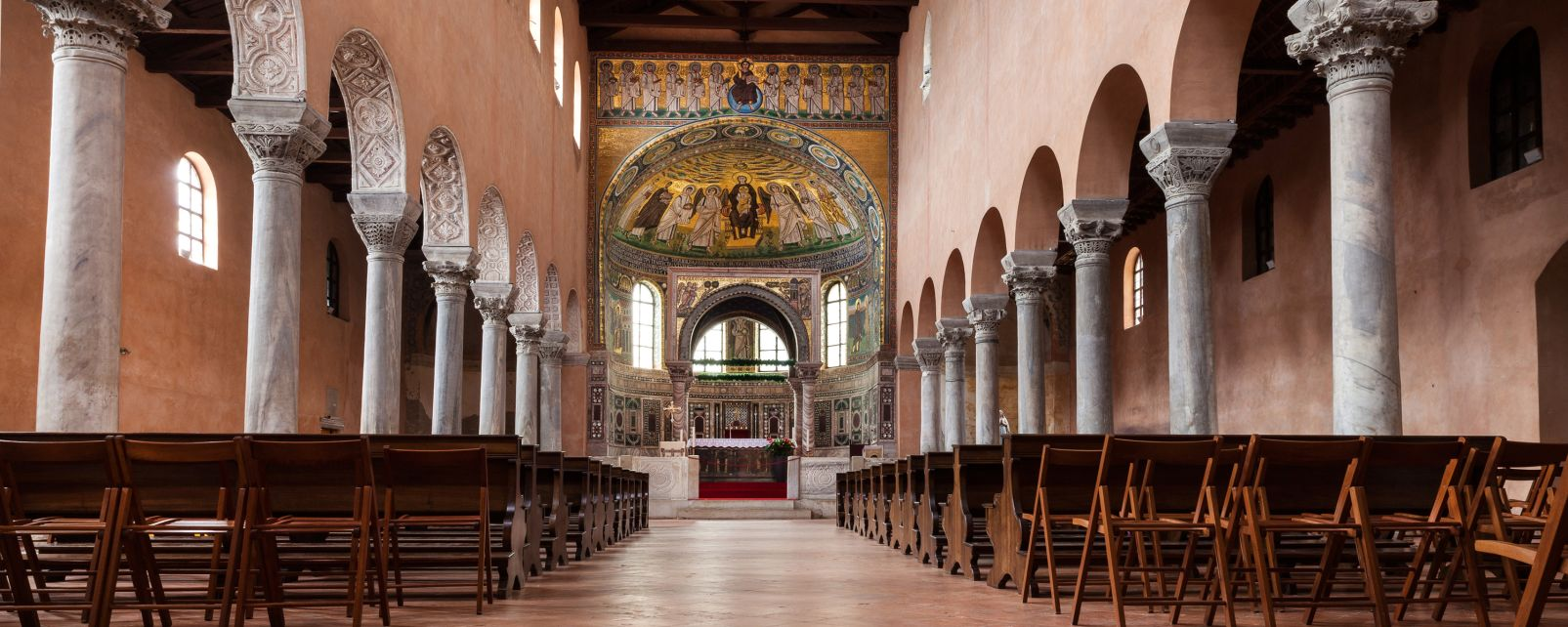 Les monuments, porec, basilique euphrasienne, religion, église, croatie, europe, adriatique, nef, choeur