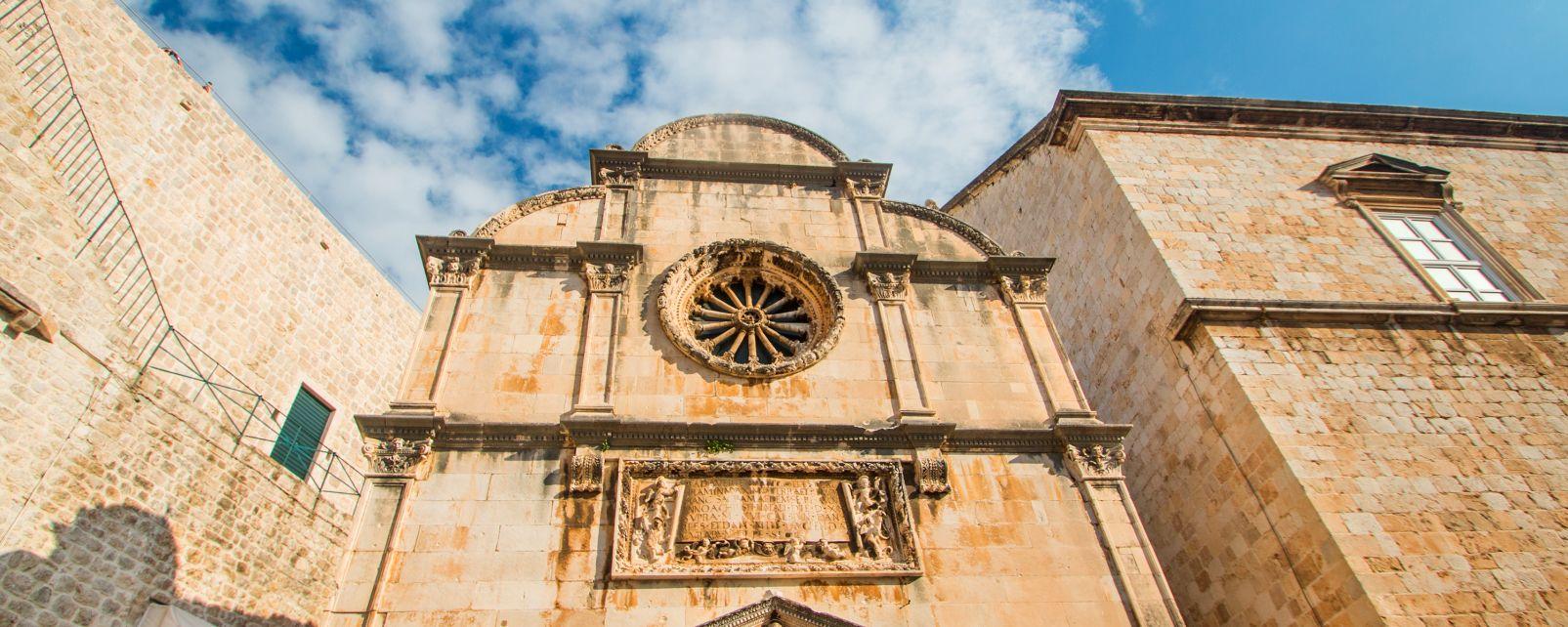 L'église St-Sauveur dans la vieille ville de Dubrovnik., Eglise Saint Sauveur à Dubrovnik, Les monuments, Dubrovnik, Croatie