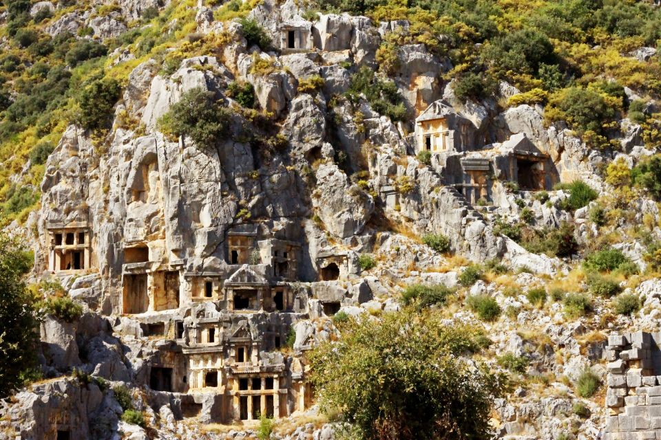 Les monuments, myre, turquie, antiquité, asie mineure, anatolie, demre, troglodyte