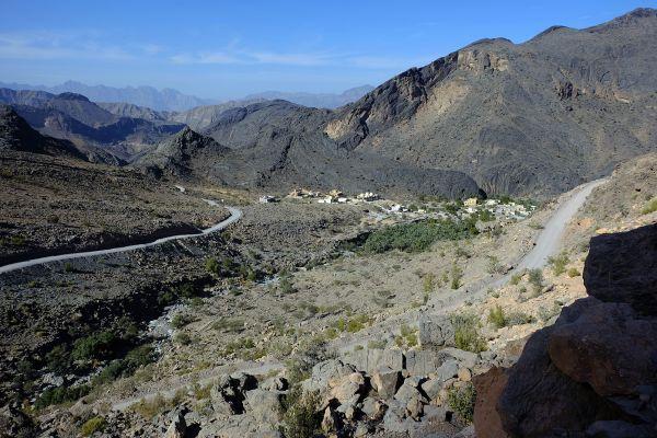 Les paysages, Oman, sultanat, moyen-orient, route, wadi bani awf