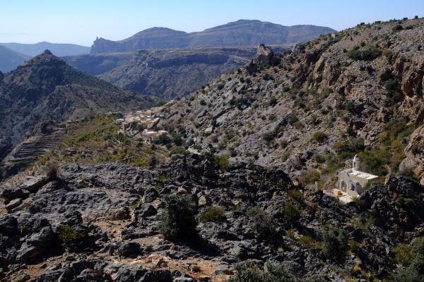 Oman 2016- Les Trois Villages, Le Djebel Al Akdhar, Les paysages, Sultanat d'Oman