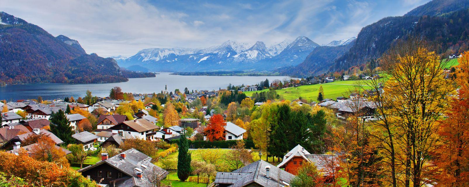 Les paysages, land de salzbourg, land, lac, autriche, paysage, europe, mondsee: