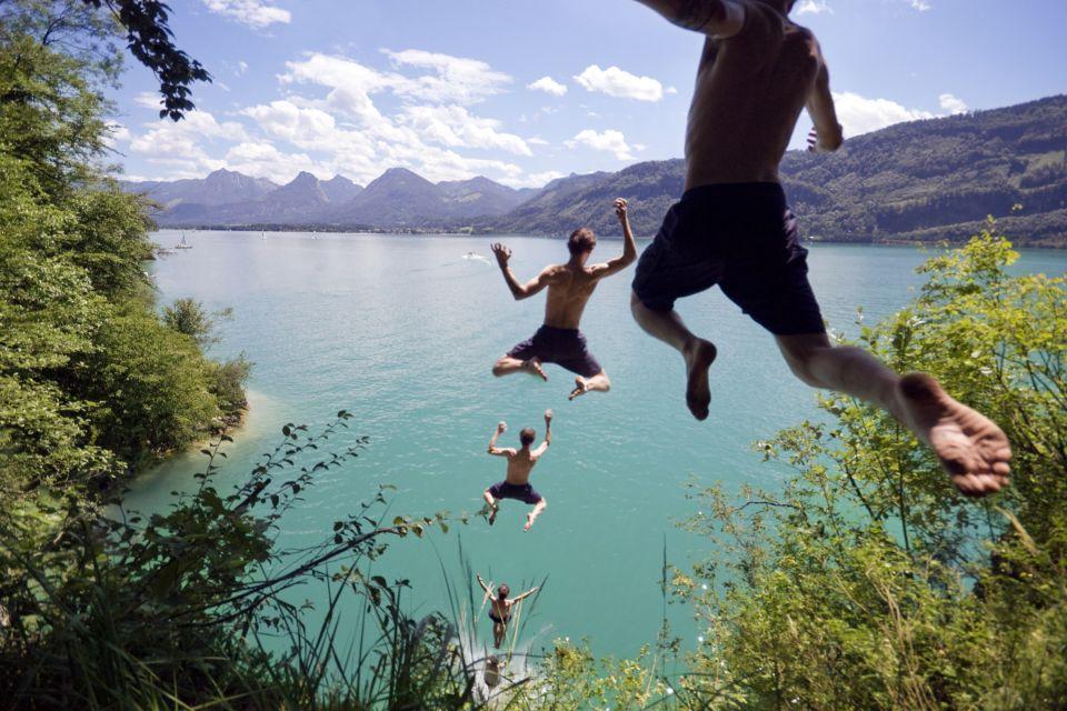 Les paysages, land de salzbourg, land, lac, autriche, paysage, europe, Wolfgangsee
