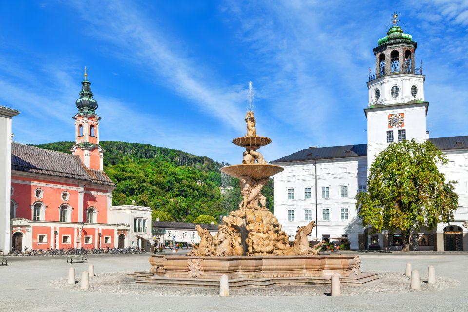 Les musées, salzbourg, dome, autriche, europe, musée, culture, Residenzplatz, place, fontaine, DomQuartier