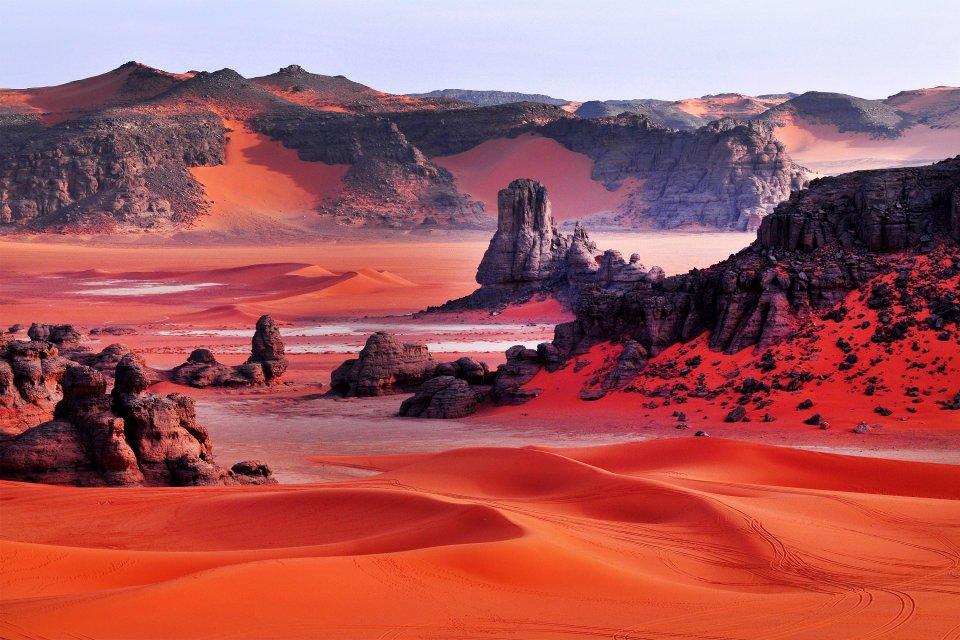 Tassili n'Ajjer, La meseta de Ajjer, Los paisajes, Argel, Argelia
