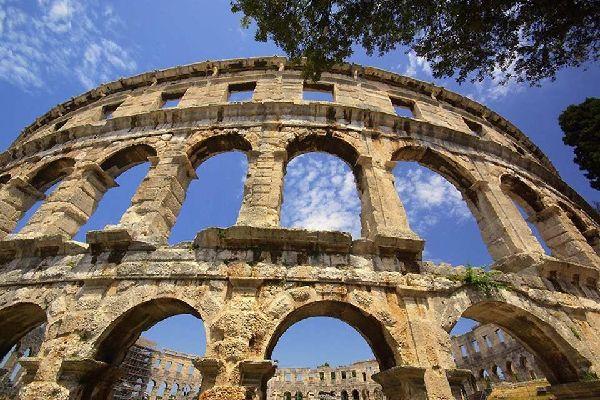 Die römischen Relikte , Der Kaiserpalast in Split , Kroatien
