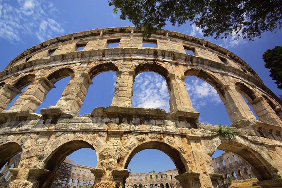 Les vestiges romains , Pula Arena, Croatie , Croatie