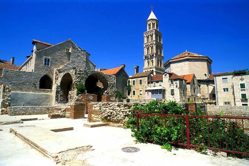 Les vestiges romains , Ruines romaines de Split, Croatie , Croatie