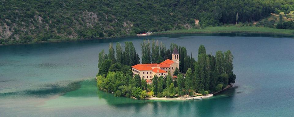 L'�lot de Visovac en Croatie