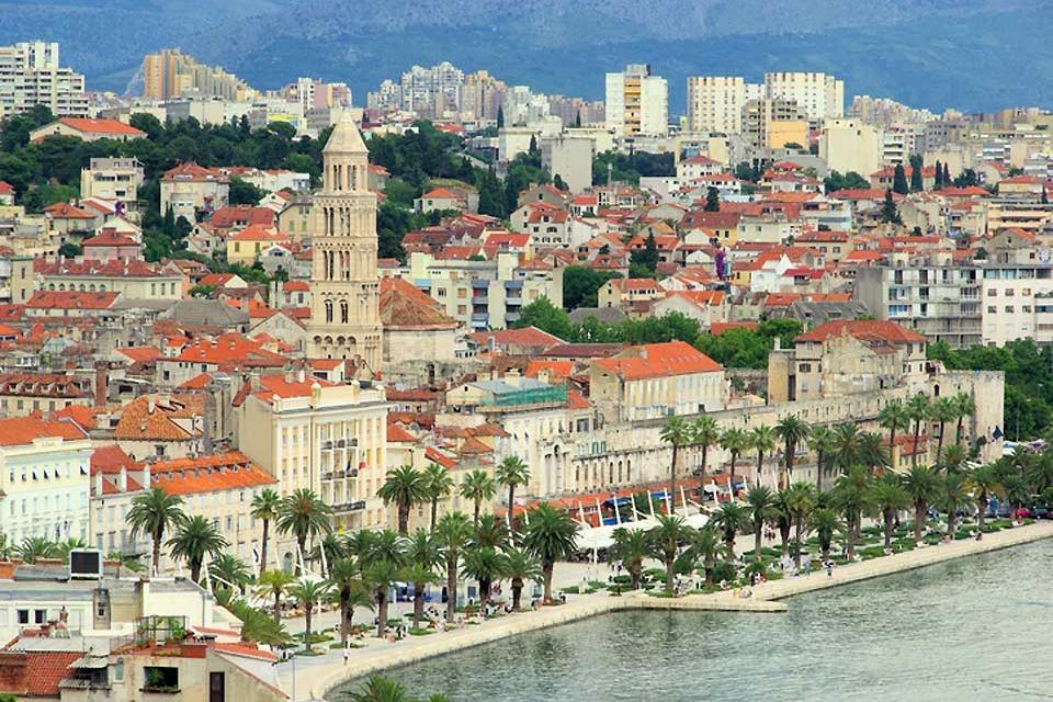 L'architecture , La ville de Split en Croatie , Croatie
