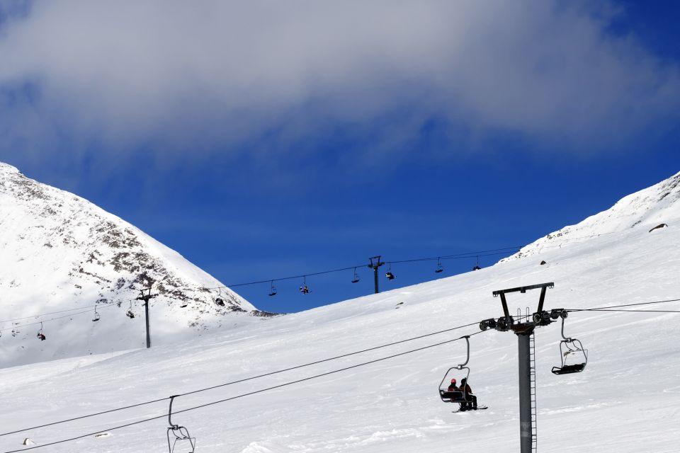 Les paysages, Georgie, géorgie, europe, caucase, montagne, ski, station, gudauri, télé-siège
