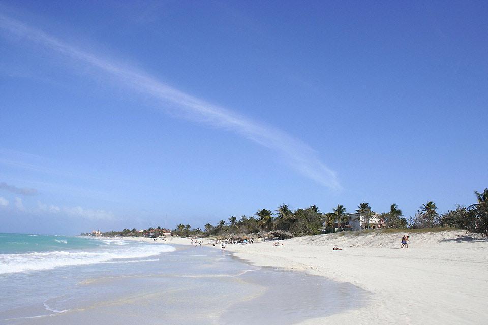 La playa de Varadero , Cuba