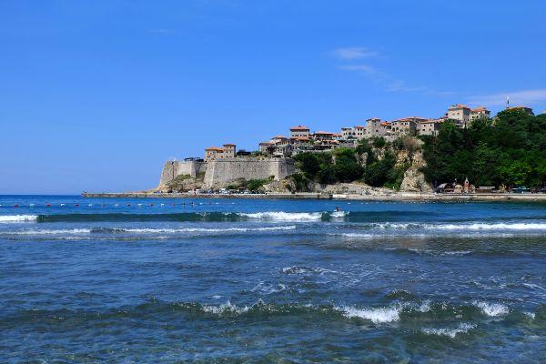 Montenegro- Albanie 2017, La baie de Ulcinj, Les côtes, Monténégro