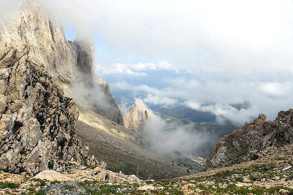 Las montañas del Norte , Bajas temperaturas en las montañas de Cabilia , Argelia