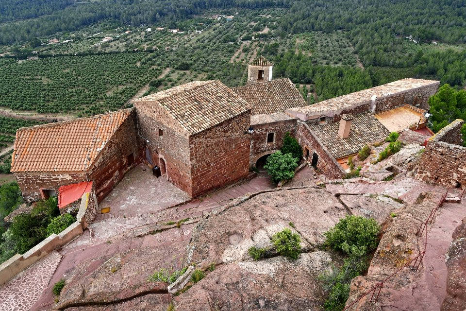 Les monuments, espagne, catalogne, espagne, mare de deu, roca, mont-roig, ermitage, religion, catholique