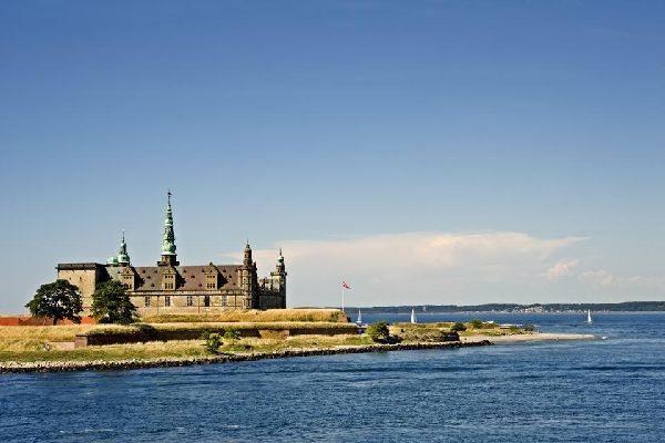 The coastal path of Sjælland , Kronborg Castle in Elsinore , Denmark