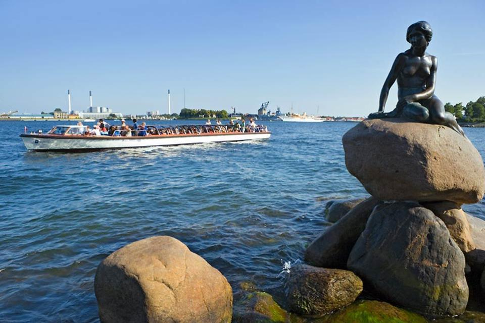 La Petite Sirène , Sirène dans le port de Copenhague , Danemark