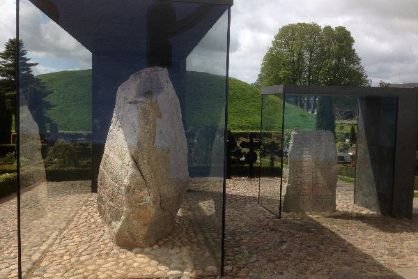 The prehistoric site of Jelling , The runic stones of Jelling , Denmark