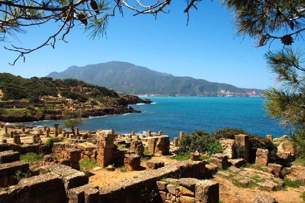 Die Küste von Oran , Blick auf Oran , Algerien